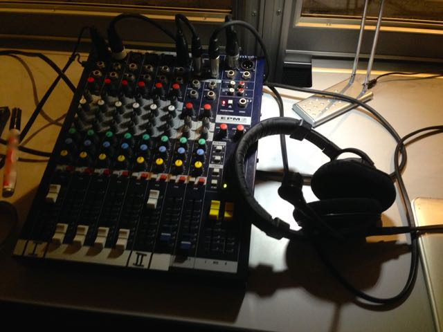 A mixing console for the interpreters?